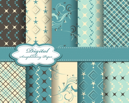 set of abstract vector paper for scrapbook Ilustrace