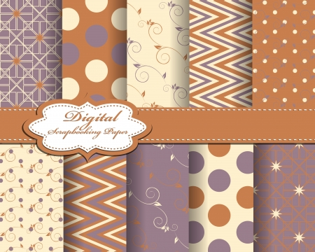 set of  abstract paper for scrapbook