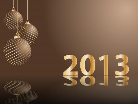 stylized New Years card Illustration