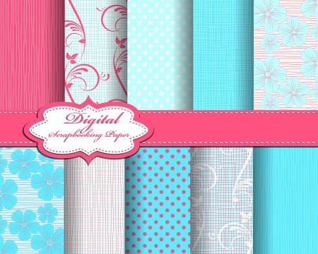 scrapbook background: flower pattern paper for scrapbook