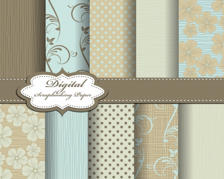 compendium:  flower pattern paper for scrapbook