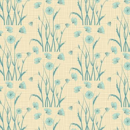 poppy flower pattern background Stock Vector - 15901354