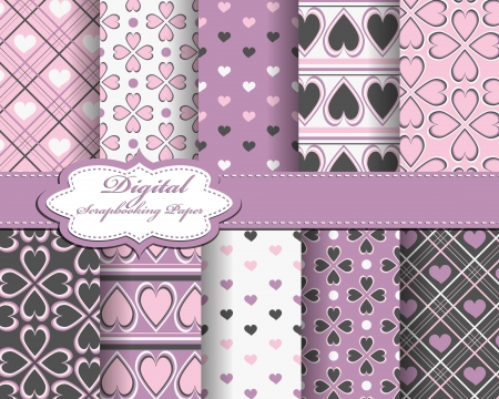 compendium: abstract Valentines day pattern background