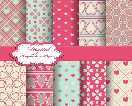 abstract Valentines day pattern background Vector