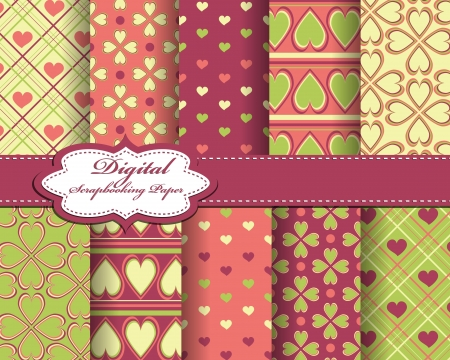 abstract Valentines day pattern background Stock Vector - 16099596