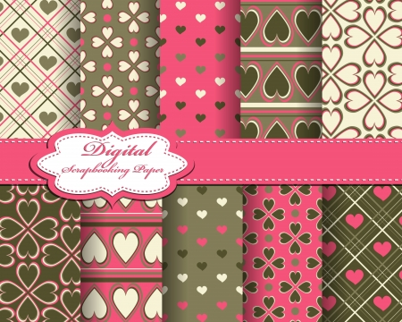 valentine's day: abstract Valentines day pattern background