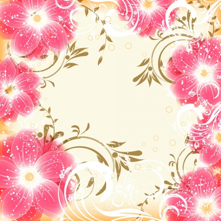 abstract vector flower background Stock Vector - 16463530