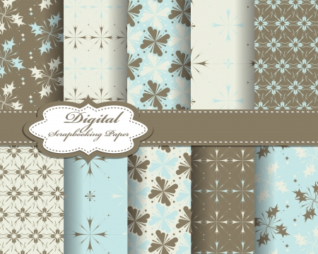 set of pattern paper for scrapbook Stock Vector - 16748208