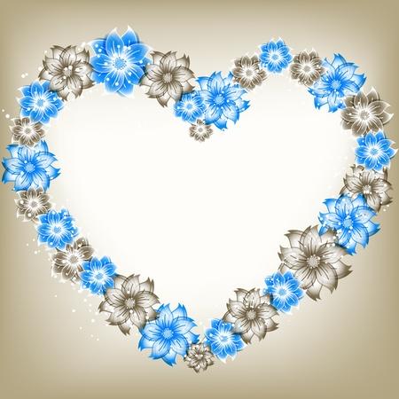 flower heart Stock Vector - 16915600