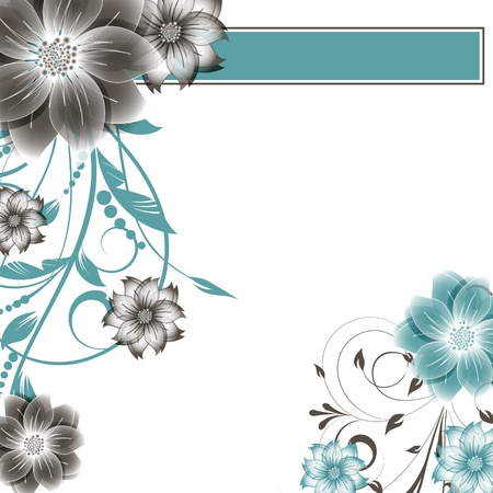 abstract vector flower background Stock Vector - 17007446
