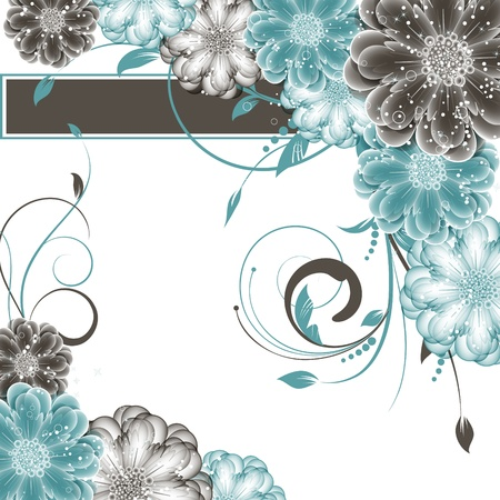 abstract vector flower background Stock Vector - 17113569