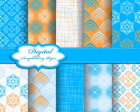 set of pattern paper for scrapbook Stock Vector - 17208794