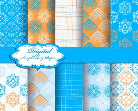 set of pattern paper for scrapbook Stock Vector - 17208794