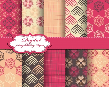 set of pattern paper for scrapbook Stock Vector - 17208799