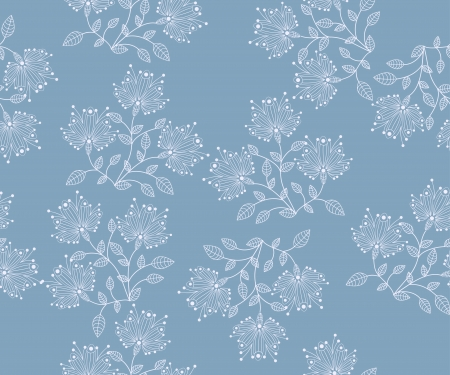 seamless  flower pattern abstraction background Vector