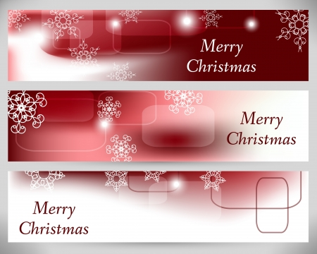 Christmas Abstract Banners. Vector Backgrounds.  Vector