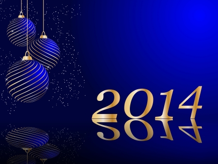 stylized vector New Years card Vector
