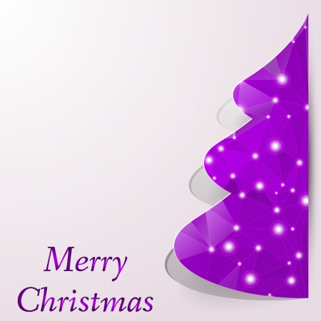 firs: stylized decorative floral Christmas tree on decorative  Illustration