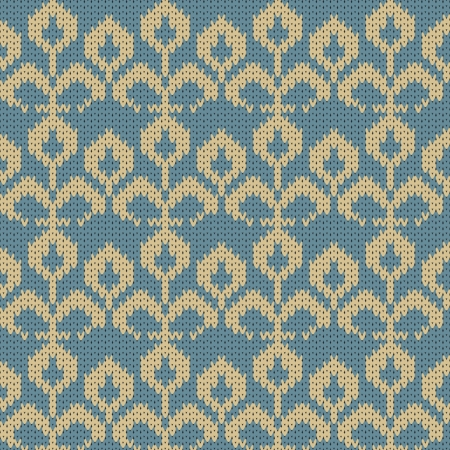 Vector knitted flower background