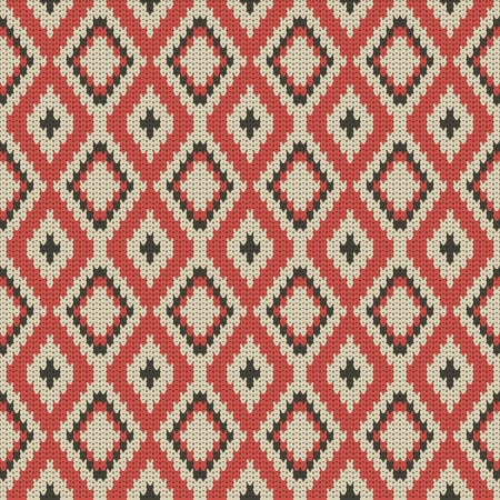 knitted background: seamless vector knitted background Illustration