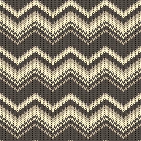 knitted background: fondo zigzag sin fisuras vector de punto Vectores