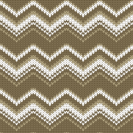 knitted background: seamless zigzag vector knitted background