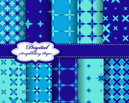 compendium: set of vector abstract pattern paper for scrapbook