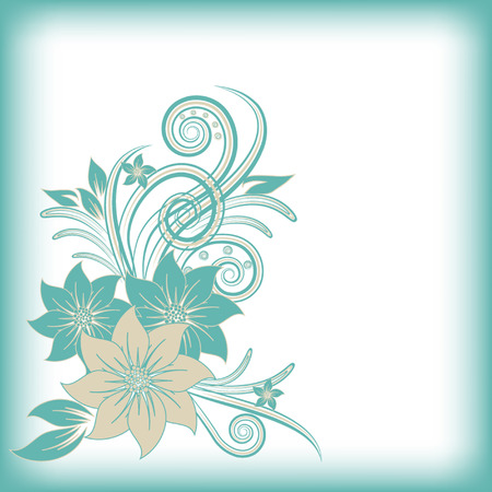 abstract vector flower background Vector Illustration