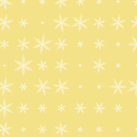 vector Christmas abstract snowflakes pattern background