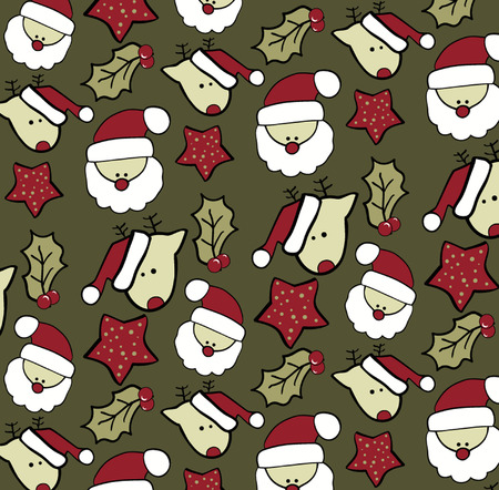 vector Christmas ornament pattern background