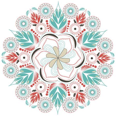 Vector mandala Rosettes pattern, Decorative Elements