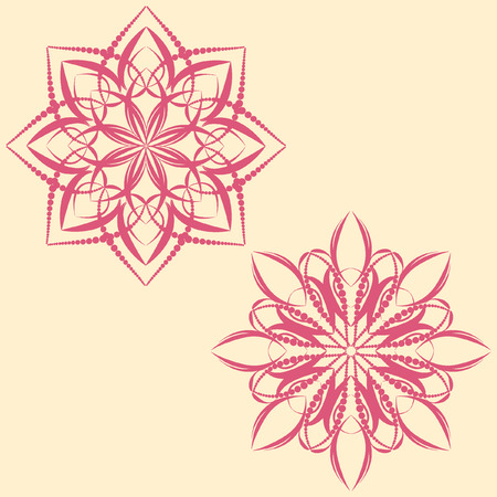 Set of Vector mandala Rosettes pattern, Decorative Elements