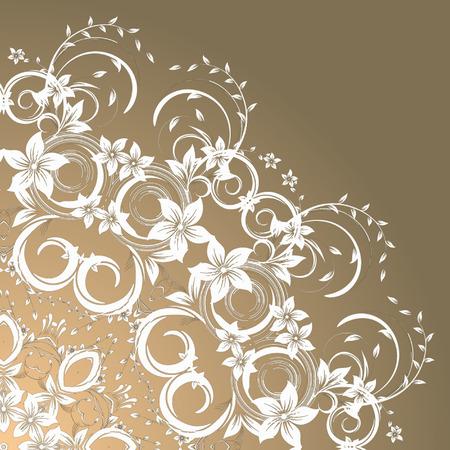 floral corner: Vector  Rosettes pattern, Decorative Elements