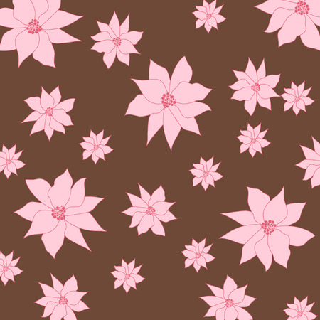 decoratively: vector abstract flower pattern background