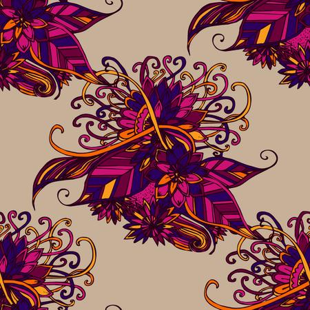 flores abstractas: textura transparente con flores abstractas. Vectores