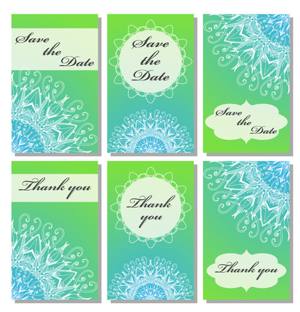 wedding reception decoration: Vintage card templates.