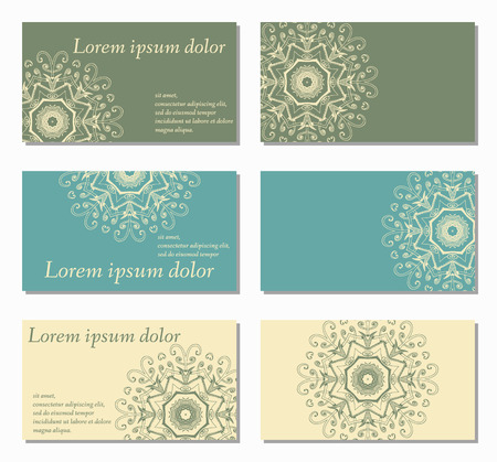 company background: Set of abstract creative business cards