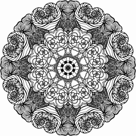 round: Mandala Round Ornament Pattern.  Illustration