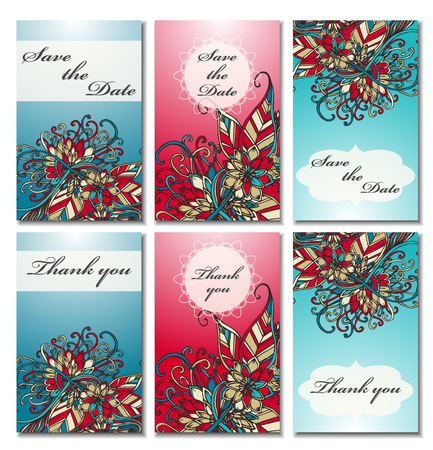 wedding reception decoration: Doodles card templates.