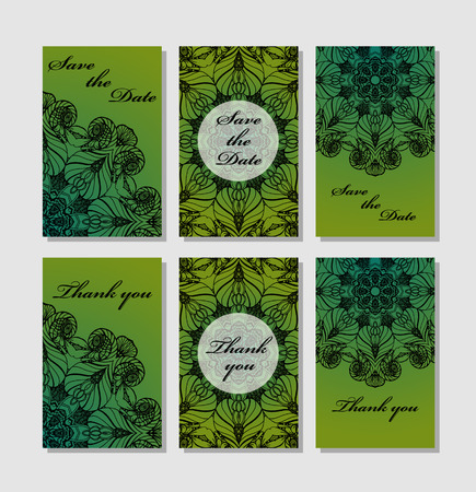 response: Template response card save the date card Illustration