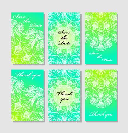 wedding reception decoration: Vintage card templates.