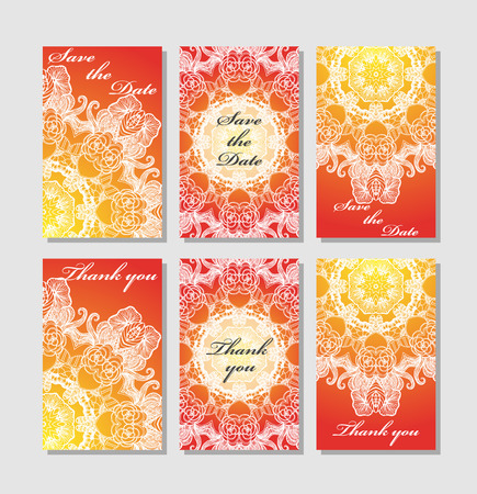 response: Vintage vector card templates. Can be used for Save The Date, baby shower, mothers day, valentines day, birthday cards, invitations. Template Vector response card save the date card