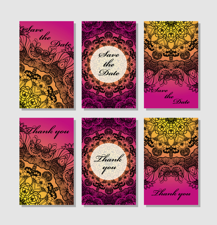 wedding reception decoration: Vintage card templates