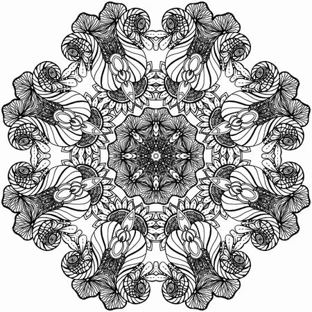 spiritual background: Mandala Round Ornament Pattern.