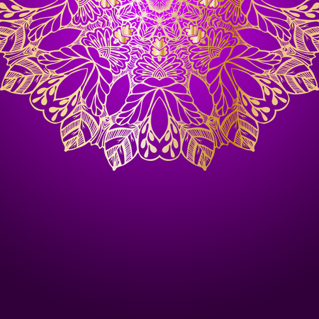 used ornament: Mandala. Round Ornament Pattern. Vintage decorative elements. Hand drawn background. Islam, Arabic, Indian, ottoman motifs. Beautiful vintage ornament can be used as a greeting card