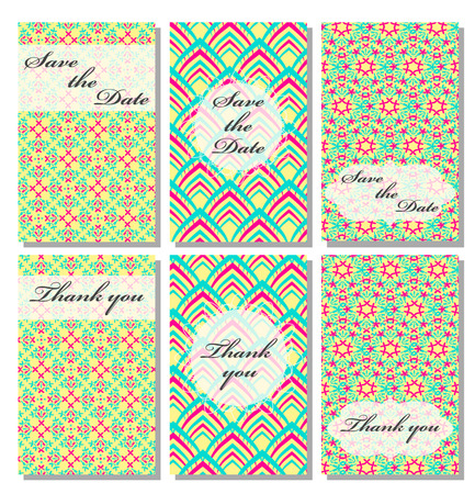 wedding reception decoration: Vintage vector card templates. Can be used for Save The Date, baby shower, mothers day, valentines day, birthday cards, invitations. Template Vector response card save the date card