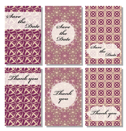 response: Vintage vector card templates. Can be used for Save The Date, baby shower, mothers day, valentines day, birthday cards, invitations. Template Vector flower response card save the date card