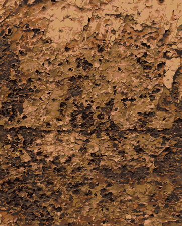 rouille: Abstract Rust Paint Crack Texture