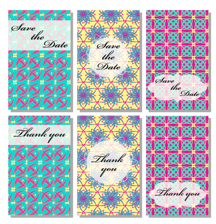 wedding reception decoration: Vintage vector card templates. Can be used for Save The Date, baby shower, mothers day, valentines day, birthday cards, invitations. Template Vector flower response card save the date card
