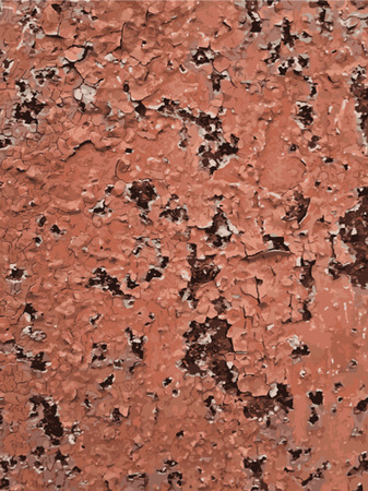 rust metal: Abstract Rust Paint Crack Texture for your design. EPS10 vector. Old metal rust background. Vector seamless texture of cracks Illustration